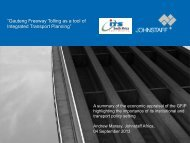 """""""Gauteng Freeway Tolling as a tool of Integrated ... - ITS South Africa"""