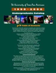 1998-2000 - The University of Texas-Pan American