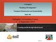 Gallagher Convention Centre 3 – 4 September 2013 - ITS South Africa