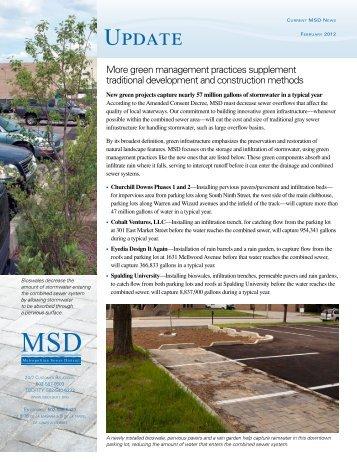 Update Newsletter – February 2012 - MSD