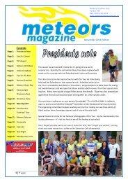 Contents November 2011 Edition - Meteors Triathlon Club