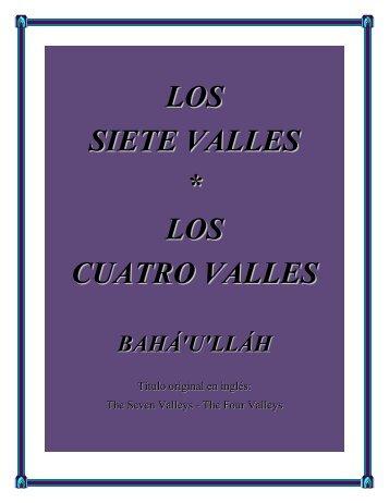 LOS SIETE VALLES * LOS CUATRO VALLES - Bahá'í - Puerto Rico