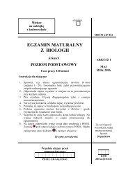 EGZAMIN MATURALNY Z BIOLOGII - Gazeta.pl