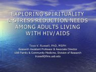 exploring spirituality & stress reduction needs among adults living ...