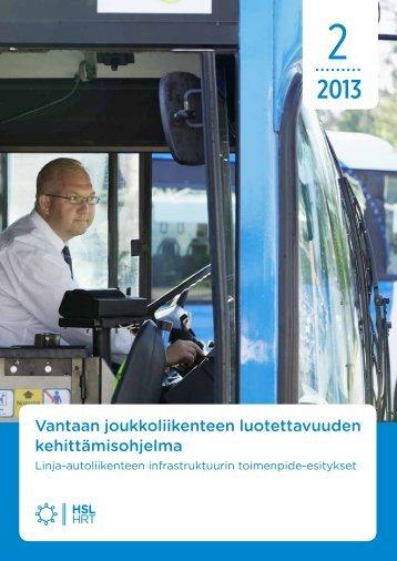 Vantaan joukkoliikenteen luotettavuuden kehittämisohjelma - HSL