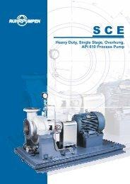 Heavy Duty, Single Stage, Overhung, API 610 Process Pump