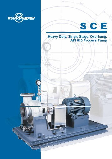 Heavy Duty, Single Stage, Overhung, API 610 Process Pump