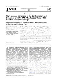 Mg2+-induced Variations in the Conformation and Dynamics of HIV ...