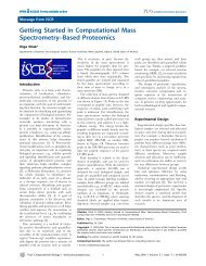 Getting Started in Computational Mass Spectrometry–Based ...