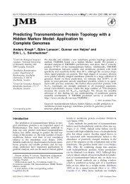 Predicting Transmembrane Protein Topology with a Hidden Markov ...