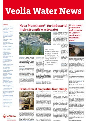 Veolia Water News - Veolia Water Solutions & Technologies