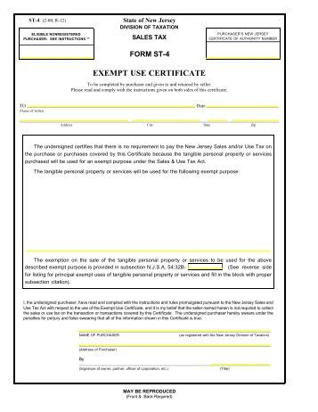 how to get a sales tax exemption certificate