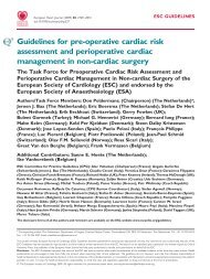 Guidelines for pre-operative cardiac risk assessment and ...