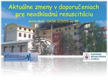 Aktuálne zmeny v doporučeniach pre neodkladnú resuscitáciu