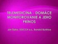 Telemedicína - domáce monitorovanie a jeho prínos
