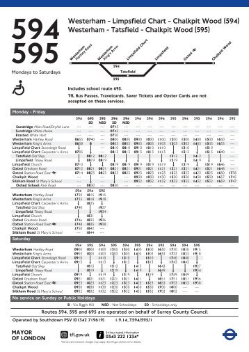 Westerham - Tatsfield - The Greater London Bus Map