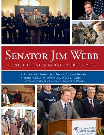 114889005-Senator-Webb-s-Six-Year-Legislative-Report-2007-2012