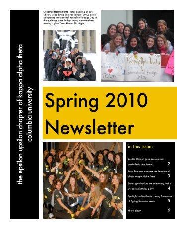 march 2010 newsletter - Kappa Alpha Theta - Columbia University