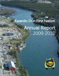 KDFN Annual Report 2009-2010 - Kwanlin Dün First Nations