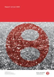 Rapport annuel 2009 - Santé bernoise