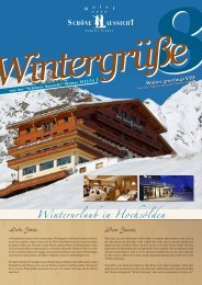 Wintergrüße 8 - Hotel Hochsölden