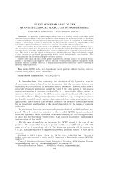 ON THE SINGULAR LIMIT OF THE QUANTUM-CLASSICAL ...