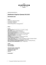 Stadttheater Klagenfurt Spielzeit 2012/2013 - Mein Klagenfurt