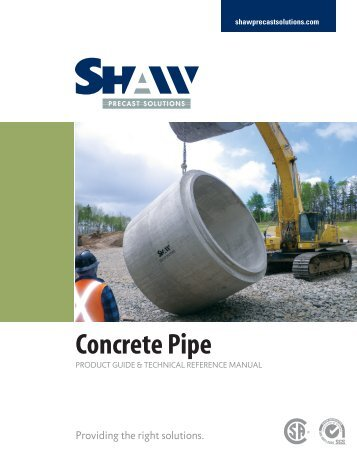 concrete pipe product guide - Shaw Precast Solutions