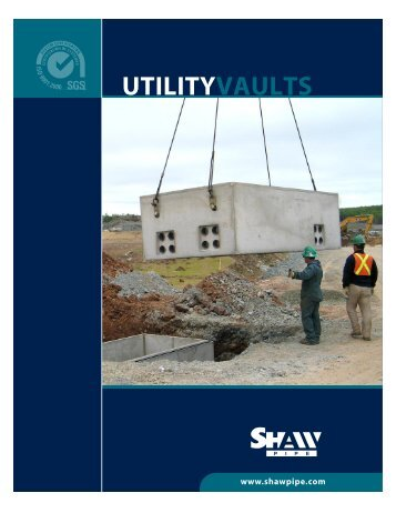 UTILITYVAULTS - Shaw Precast Solutions