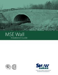 MSE Installation Guide - Shaw Precast Solutions
