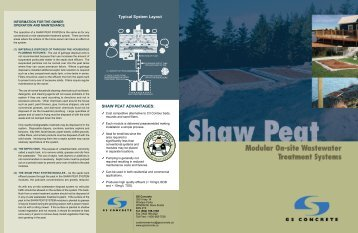 shaw peat modular on-site wastewater treatment systems