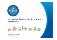 Navigation, Cooperative Driving and EcoMobility - Swiss Institute Of ...