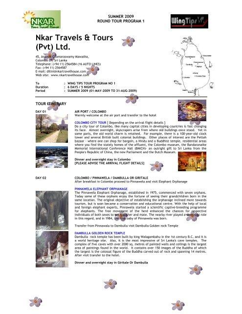 Nkar Travels & Tours (Pvt) Ltd. - WingTips