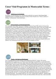 Unser Vital-Programm in Montecatini Terme: - WingTips