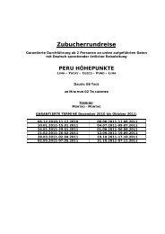 Zubucherrundreise - WingTips