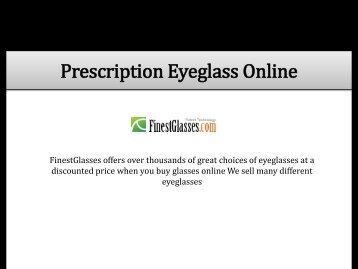 Prescription Eyeglass Online