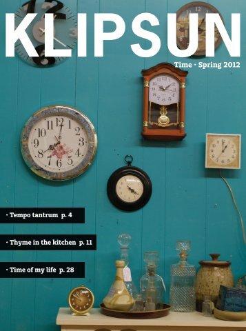Time • Spring 2012 - Klipsun
