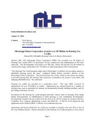 Mississippi Home Corporation Awards over $8 Million in Housing ...