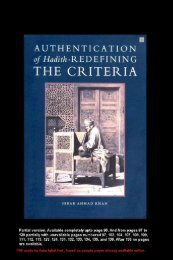 Authentication of Hadith Redefining the Criteria - Asimiqbal2nd ...