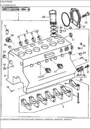 (A) REFER TO CRANKSHAFT SECTION (B) WAS 1820852C94 ...