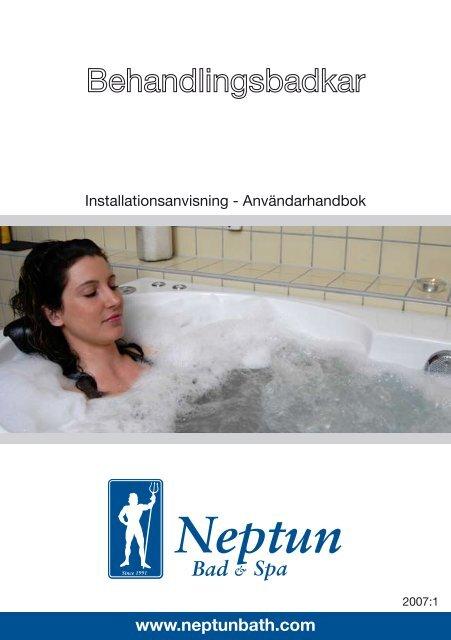 Neptun behandlingsbadkar instruktionsbok