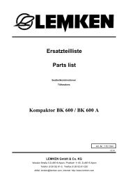 Ersatzteilliste Parts list