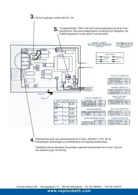 Instruktioner Elinstallation L.A. SPAS Tropical serie 2006 - Neptun
