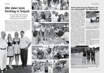 Alle dabei beim Kirchtag in Srejach D - Gemeinde St. Kanzian