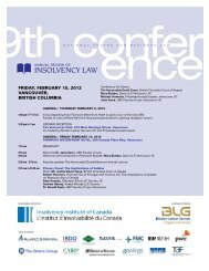 To view the conference program please click here - Koskie Minsky LLP