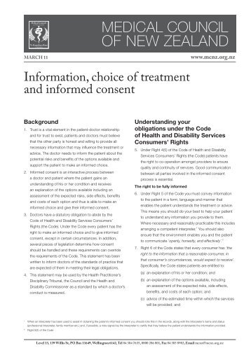 an argument in favor of informed consent as a better alternative in patients condition Richard bubb and marjorie bubb  the bubbs contend the circuit court erred when it refused to submit the question of informed consent wisconsin patients.