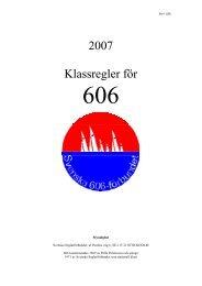 2007 Klassregler för - Svenska Seglarförbundet