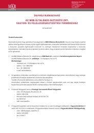 ügyféltájékoztató az mkb általános biztosító zrt. vagyon