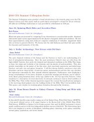 List of colloquium talks given during the summer - High Energy ...