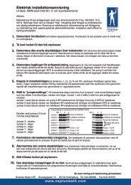 Instruktioner Elinstallation L.A. SPAS 2007 - Neptun